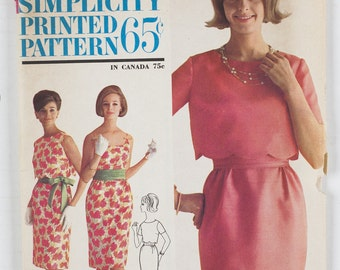 Simplicity Pattern 4929 Miss Size 14 Bust 34 1960's
