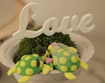 turtles Wedding Cake Topper---k605