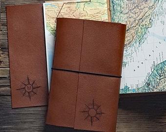 monogram explorer journal with maps a travel journal personalize  - tremundo journals