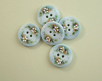 Dusty Blue Button set of 5