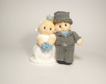 Bride and Groom Wedding Bitsy Baby Dolls Knitting Pattern