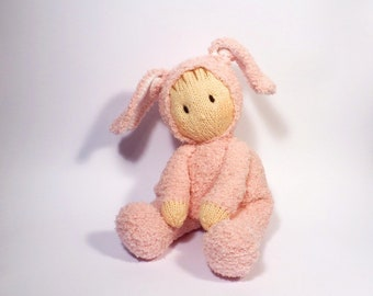 Bunny Jo-Jo Doll Knitting Pattern