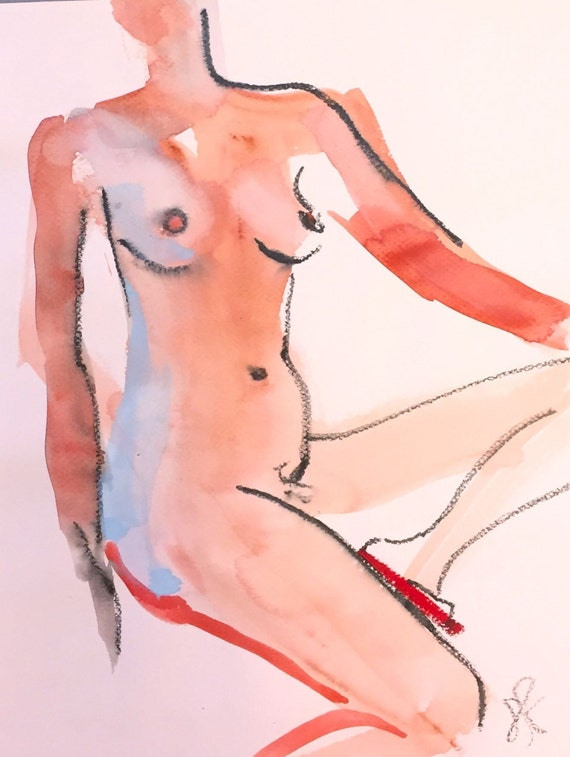 Nude painting#1380  Original painting by Gretchen Kelly