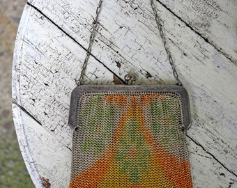 Antique Mesh Whiting and Davis Purse