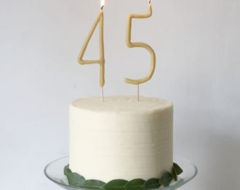Hand dipped Beeswax Numbers - 2 Numbers