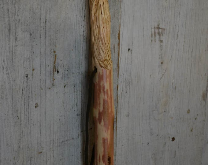 Wood Spirit Walking Stick, Whimsical Carving, Handcarved Woodspirit Hiking Stick, Hand-carved Mountain Man Wood Carvers of Etsy