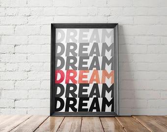 Sweet Dreams, Bedroom Decor, Printable Art, Above Bed Decor