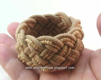 beaded olive rope bracelet turks head knot rope bracelet glass bead bracelet hand knotted bracelet armband 3236