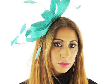 Jade Green Fascinator Kentucky Derby or Wedding Hat **SAMPLE SALE