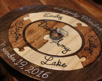 Unity Ceremony Wedding Puzzle Unique Christmas Gift For Mom Unity Ceremony  Alternative Custom Personalized Family Puzzle Wooden Tray Puzzle
