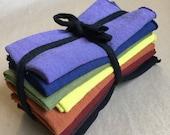 """Hemp and Organic Cotton Reusable Handkerchiefs/ Hand dyed 11""""x11"""""""