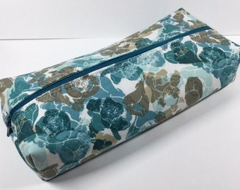 100% Cotton Zipper box Pouch or Pencil Case or cosmetic bag