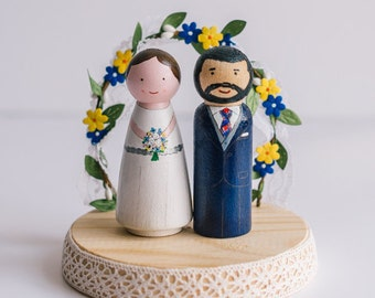 peg doll wedding cake toppers uk cake topper wedding cake topper peg dolls wooden cake 18184