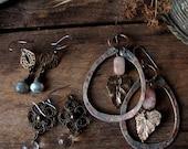 custom listing for Megafizz - assemblage earrings and etc.