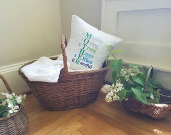 free shipping - Mother's Day pillow - ombre - personalized - mother's day - poem - mother's day gift - blue - green - white - gift for mom