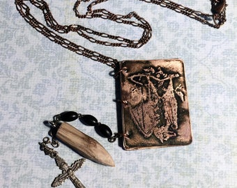 Vampire Necklace, Tiny Journal Necklace