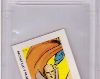 Graded 1964 DC Comics Paper Card A-2 LEX LUTHOR