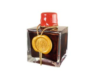 J. Herbin Fountain Pen & Calligraphy Ink in Rouge Hematite - 50ml bottle