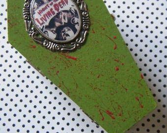 Night of the Living Dead zombie inspired embellished coffin trinket box
