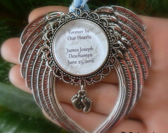"Memorial Baby / Miscarriage Ornament ""Forever in our Hearts"""
