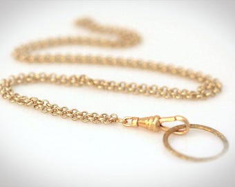 Convertible Gold Eyeglass Necklace - ID Badge Lanyard. More Colors Available.