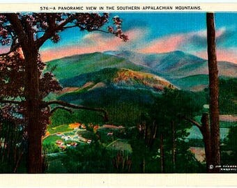 Vintage Postcard - Southern Appalachian Mountains (Unused)