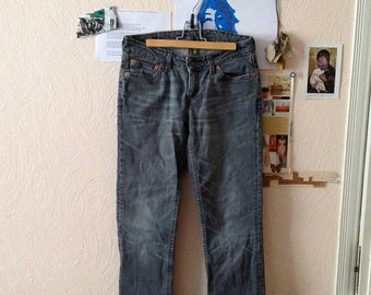 Vintage High Waist Pants Levi's Jeans Levi's 555 Black Faded Washed Womens W30 L32 M Medium