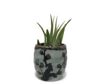 Vintage Vase, Sake Cup or Air Plant Holder - Stoneware - Japan