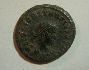 Authentic Ancient Roman Coin of Constantius II  Reverse; Soldiers at Standards  337-361 A.D.