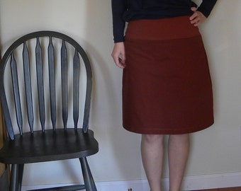 Fireside Organic Cotton Twill ALine Skirt  Made in the USA - Organic Cotton Clothing