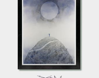 Mountains. Summon and Seek. Yoga Decor, Alan Watts, Mountain Art, Mountain, Mountain Climbing,  Yoga Wall Art, Yoga Art, Zen Art, Hiking Art