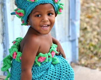 Crochet Princess Mermaid Play Outfit pdf 771