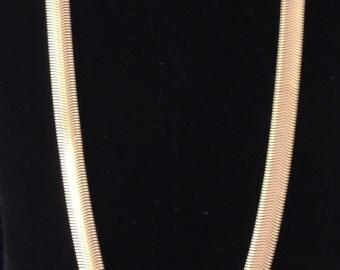 Vintage Gold Chain, Gold Herringbone Chain, Chain Necklace, Gold Chain, Gold Snake Chain, Gold Herringbone Necklace, Gold Chain Necklace
