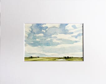 Summer Sky • original watercolor painting
