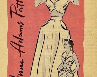 Anne Adams Pattern R4745 * BOMBSHELL  Halter Top, Shorts & Skirt PLAYSUITS  - Ff - size 16..bust 34