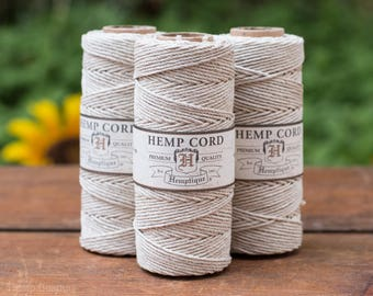 Natural   Hemp Cord,  1mm,  205 feet,  Natural  Twine,  Hemp Jewelry Cord, Hemp -T28