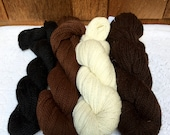 Suri Alpaca Yarn, Premium Alpaca, Undyed Yarn, Two Ply, Worsted Weight, Beautiful, Natural Colors