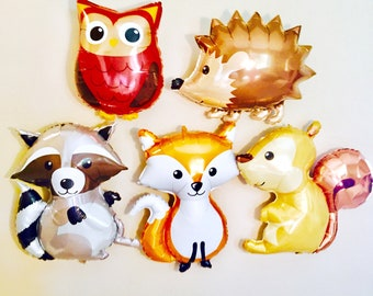 WOODLAND Animal Balloons, Woodland Animal Party, Woodland Animal Theme, Woodland  Animal Decorations,