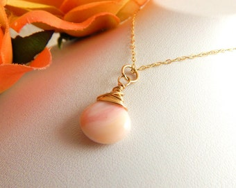 Pink Opal Necklace ~ AdoniaJewelry