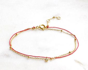 Red string bracelet | Simple bracelet | Goodluck bracelet