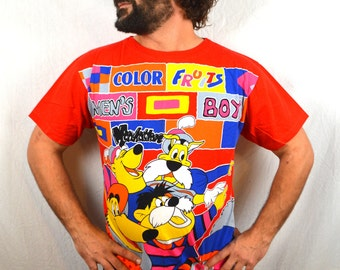 Vintage 1990s Weird Fake Looney Tunes Oversized Tee Shirt Tshirt - By Fruits