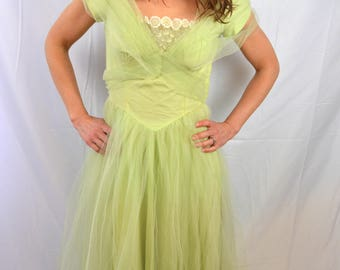 Vintage Tulle Crinoline 1950s 50s Harry Keiser Dress