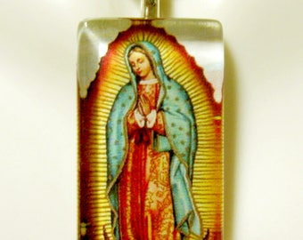 Our Lady of Guadalupe pendant with chain - GP12-156