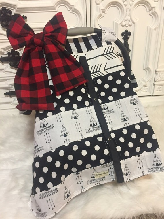 car seat cover / car seat canopy / nursing cover / carseat canopy / carseat cover / buffalo plaid