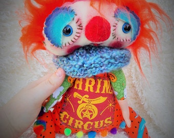 Grock a Handmade OOAK Art Doll Ratty Tatty Monster