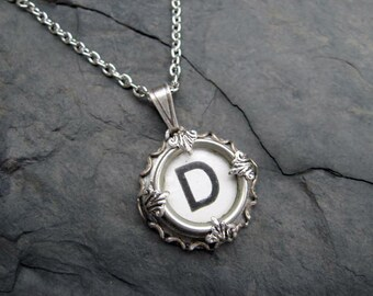 Typewriter Key Jewelry - Typewriter Charm - Letter D