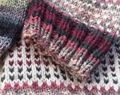 Reserved for CRob - Chunky Knit Graffiti Rose Hat
