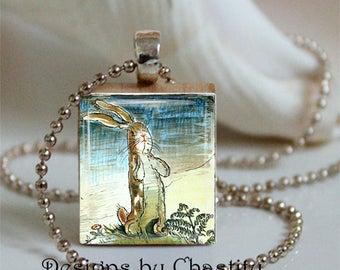 Velveteen Rabbit Necklace Scrabble Original Art Work
