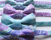Little and Big Guy BOW TIE - Spring Easter - Lavender and Aqua Collection - (Newborn-Adult) - Baby Boy Toddler Teen Man