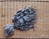Doll Hair Combed Mohair 7-9 in gray natural tone adult mohair angora goat/ reroot/  Reborn/ momoco/ doll wig/ blythe wig/ pullip/